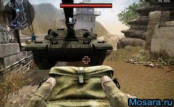 Легко забираемся под танк